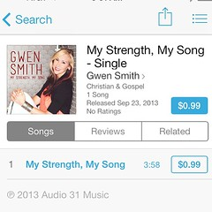 "ATTENTION INSTAGRAM FRIENDS! ""My Strength, My Song"" is now on iTunes! https://itunes.apple.com/us/album/my-strength-my-song/id712420411?i=712420917 Feel free to repost & help spread the word! #MyStrengthMySong"