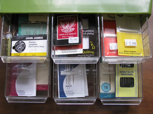 hand needle storage drawers