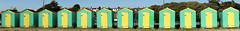 Beach Huts - Littlehampton (Neil Pulling) Tags: uk england panorama beach sussex seaside doors westsussex beachhut seasideresort littlehampton