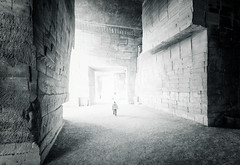 Towards The Light (Philipp Klinger Photography) Tags: door light shadow people bw sun white man black france monochrome rock stone les de person blackwhite nikon frankreich angle wide wideangle doorway sw blocks block exit provence ultra quarry lumires d800 steinbruch baux lesbauxdeprovence bauxdeprovence carrires carriresdelumires
