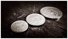 Cash! (Hoorns Photography) Tags: monochrome round indoor money cash coins bw dutch nederland