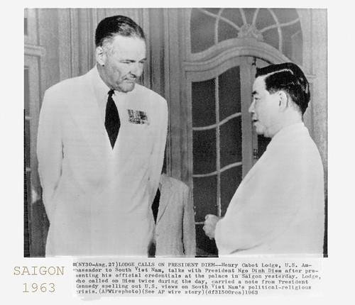 1963 Ngo Dinh Diem - Henry Cabot Lodge - Press Photo