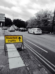 296/365 Diversion (The original SimonB) Tags: sign project suffolk october 365 ipswich selective 2013
