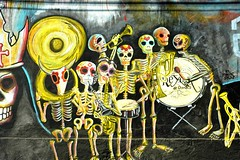 Skeleton Band Oaxaca Mexico (Ilhuicamina) Tags: dayofthedead mexico graffiti paintings murals mexican skeletons calaveras musicos