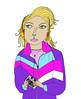 #4 Heather Hunter (worldwidebrainsproject) Tags: moleskine sketch doodle vagina illustrator benidorm savedbythebell tennisballs llustration wwbproject vaginalacrobat
