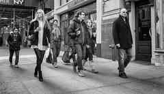 Friday Afternoon (mkc609) Tags: street nyc newyorkcity urban blackandwhite bw ny newyork blackwhite candid streetphotography xe1 fujixe1