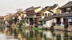 Xitang water village (Pic_Joy) Tags: china sunset reflection building water architecture river boat asia village dusk traditional culture historic xitang  jiangnan  zhejiang        jiashan