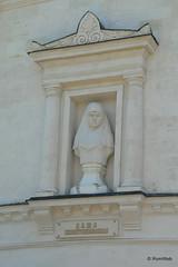Севастополь, Исторический бульвар, бюст героя обороны на здании панорамы