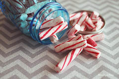 peppermint sticks II (life stories photography) Tags: christmas november blue red stilllife food white kitchen sticks holidays candy teal gray jar sweets chevron peppermint