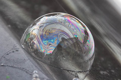 tiny little world ({Jk} qc) Tags: winter snow beautiful canon project frozen rainbow freezing bubbles bubble swirl paisley