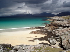 Natural colours...Scotland, naturally, North Harris Hills from Luskentyre Beach, West Harris - Donald Macleod Hodgson