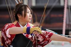 Kyudo (Teruhide Tomori) Tags: portrait sports japan kyoto action traditional bow   kimono arrow bowandarrow kyudo     ef70200mmf28lis thejapaneseartofarchery   canoneos5dmark
