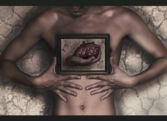 ~ pensant coeur ~ (FaustoDiGoethe) Tags: art love loving composite canon arte heart head amor surrealism chest fineart think surreal manipulation brain thinking wise concept conceptual cinematic surrealistic cerebro amar fineartphotography t3i pecho surrealismo cinemascope wisely