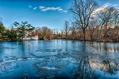 Blues of Winter (Digital World of Paul) Tags: trees winter sky house ny newyork art ice water clouds reflections landscape photography li pond nikon longisland liny 1424 originalphotography nikon1424f28 retinaresolution artistsontumblr d800e nikond800e lensblr photographersontumblr
