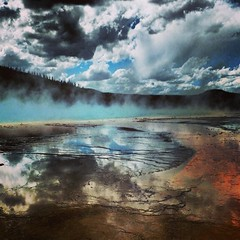 Sorry, more nature #yellowstone #wyoming #geyser (erintheredmc) Tags: park travel vacation sky cloud mist holiday reflection clouds square spring fuji erin grand national squareformat finepix yellowstone geyser mayfair mccormack prismatic iphoneography instagramapp uploaded:by=instagram f550exr