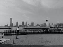 One need never leave the confines of New York (Kristof Vande Velde) Tags: street nyc newyorkcity blackandwhite bw usa newyork brooklyn america candid hudson