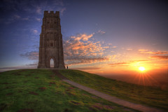 St Michael's Tower [Explored 10/03/2017] (Nickerzzzzz - Thanks for stopping by :)) Tags: ©nickudy nickerzzzzz theartofphotography nationaltrust canoneos5dmarkiii ef1635mmf4lisusm clouds sky landscape sunrise glastonburytor festival stmichaelstower somersetlevels ironage medieval tower