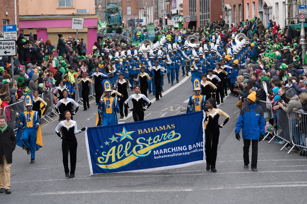 Bahamas All-Stars Marching Band [In Action During The St. Patrick's Day Parade 2017]-125754