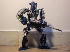 (f.bigslave) Tags: bionicle lego moc own creation custom build blue gali mistika mask cyborg robot biotech weapons war soldier