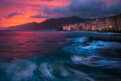 Camogli Shoreline, Italy at Sunset (vanceezachary) Tags: portofino vernazza moneresso cinqueterre