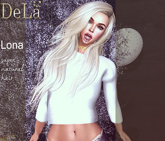 """=DeLa*= new hair """"Lona"""" (=DeLa*=) Tags: dela hair fitted rigged mesh materials secondlife secondlifefashion style sl slhair shiny shabby new"""