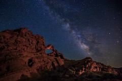 Prehistoric Cosmos (EricGail_AdventureInFineArtPhotography) Tags: ericgail 21studios canon canon6d 6d explore interesting interestingness photoshop lightroom nik software landscape nature infocus adjust california photo photographer ca cs6 picture adventureinfineartphotography nightscape valleyoffire lll lowlevellighting