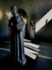 different sounds (chpaola) Tags: statue sculpture light shadow window italy verona castelvecchio museum interior explore 254