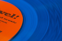 No blues in these grooves -[ HMM ]- (Carbon Arc) Tags: macromondays orangeandblue orange blue vinyl lp longplaying record phonograph gramophone turntable player label grooves esquivel juangarcíaesquivel stereo music