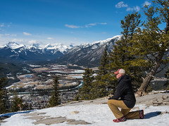 Selfie to prove I went to the top. (rskura) Tags: banffnationalpark