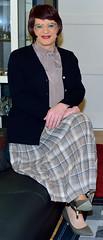 Birgit023912 (Birgit Bach) Tags: pleatedskirt faltenrock bowblouse schleifenbluse cardigan strickjacke