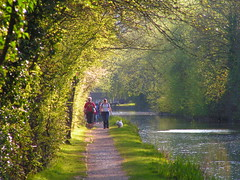 Evening (cycle.nut66) Tags: grand union canal aylesbury arm people walking water still evening light towpath konica minolta dimage z2