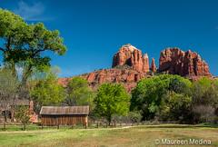 Cathedral Rock (Maureen Medina ArtiZenImages Photography) Tags: maureenmedina artizenimages sedona cathedralrock red rock arizona az cabin