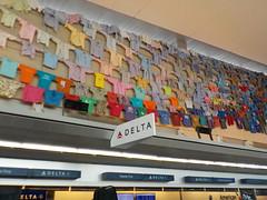 Display at Buffalo International Airport (Delta Check-in) (JuneNY) Tags: buffalotojfk new york airports buffalonewyork delta buffalointernationalairport erie county airport