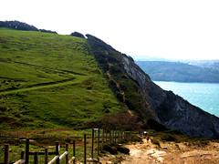 escaleras cabo billano (S H Candela) Tags: naturaleza panasonic fz72 paisaje monte raw gorliz vizcaya cabo billano