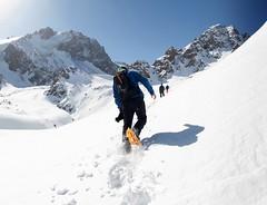 Snow Shoe I (www.mattprior.co.uk) Tags: adventure adventurer explorer explorersclub explorersclubhk expedition ski snow mountains mountain centralasia asia kazakhstan snowboard offpiste snowshoe sun cold winter exped journey mattprior