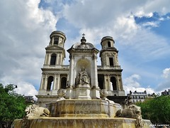 Fontaine Saint-Sulpice (JeanLemieux91) Tags: fontaine fuente fountain église saintsulpice clochers church iglesia paris îledefrance france avril april abril primavera printemps spring 2017
