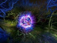 Vortex (Stephen Elliott Photography) Tags: peakdistrict derbyshire padley woods light painting night orb olympus em1 mk2 714mm ledlenser