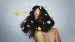 256/365 Burst of Spring (Katrina Y) Tags: selfportrait artsy art flowers hair conceptual creative concept mood 365project 2017 throughherlens