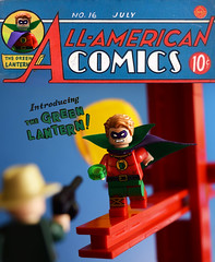 All-American Comics No.16 (Andrew Cookston) Tags: lego dc comics greenlantern alanscott goldenage original first appearance allamericancomics comic cover no16 16 martiannodell billfinger girder red yellow blue green mobster moc photoshop pariscustombricks custom minifig stilllife toy lighting nikon macro photography andrewcookston