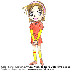 Ayumi Yoshida from Detective Conan with Color Pencils [Time Lapse] (drawingtutorials101.com) Tags: ayumi yoshida amy yeager case closed detective conan anime manga sketching pencil sketch sketches draw drawing drawings how color timelapse video