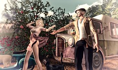 the south wind of spring! (Luca Arturo Ferrarin) Tags: secondlife spring love couple wind country beautiful mill