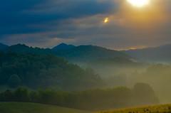 Morning has broken....  . (knoxnc) Tags: haze rainclouds mountainrange nikkon nature trees catstephens forest morninghadbroken mountains outdoors sunlight 1972 morningsunrise valleyfog landscape d5100