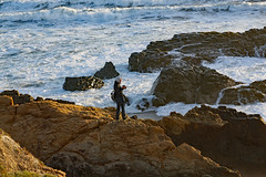 Photographing the Photographer (John Stankovich) Tags: cambria california pacific pacificocean shore coast beach sand sandy usa photographer rocks surf waves
