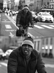 [La Mia Città][Pedala] facendo la linguaccia (Urca) Tags: milano italia 2017 bicicletta pedalare ciclista ritrattostradale portrait dittico bike bicycle biancoenero blackandwhite bn bw 993138 nikondigitale scéta linguaccia