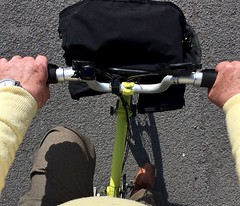 Riding home 348-365 (10) (♔ Georgie R) Tags: yellow brompton foldingbike panda