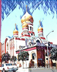(sftrajan) Tags: russian orthodox cathedral domes geary gearyboulevard sanfrancisco church therichmond richmonddistrict california edited 2017 cameraphone holyvirginrussianorthodoxcathedral outerrichmond android cellphone