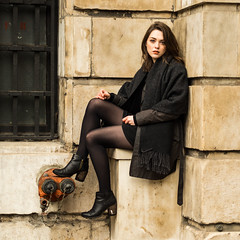 Sitting High (mayflys_reach) Tags: imogen imogenx unexpectedtales availablelight beauty brunette girl glamour london naturallight olympus woman portrait people penf stpaulscathedral
