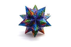 Star 54.1 (Akizhi) Tags: origami kusudama modular paper art crafts folding