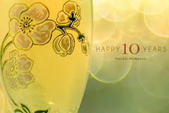 Happy 10 years! Cheers (gian_tg) Tags: macromondays happy10years celebrations champagneglass champagne perrierjouëtbelleepoque bokeh