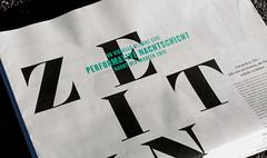 Type in use: Bely (TypeTogether) Tags: bely roxanegataud offenbach typeinuse klingspormuseumformoderninternationalbookart typographyandcalligraphy typetogether wwwtypetogethercom u9visuelleallianzgmbh newspaper